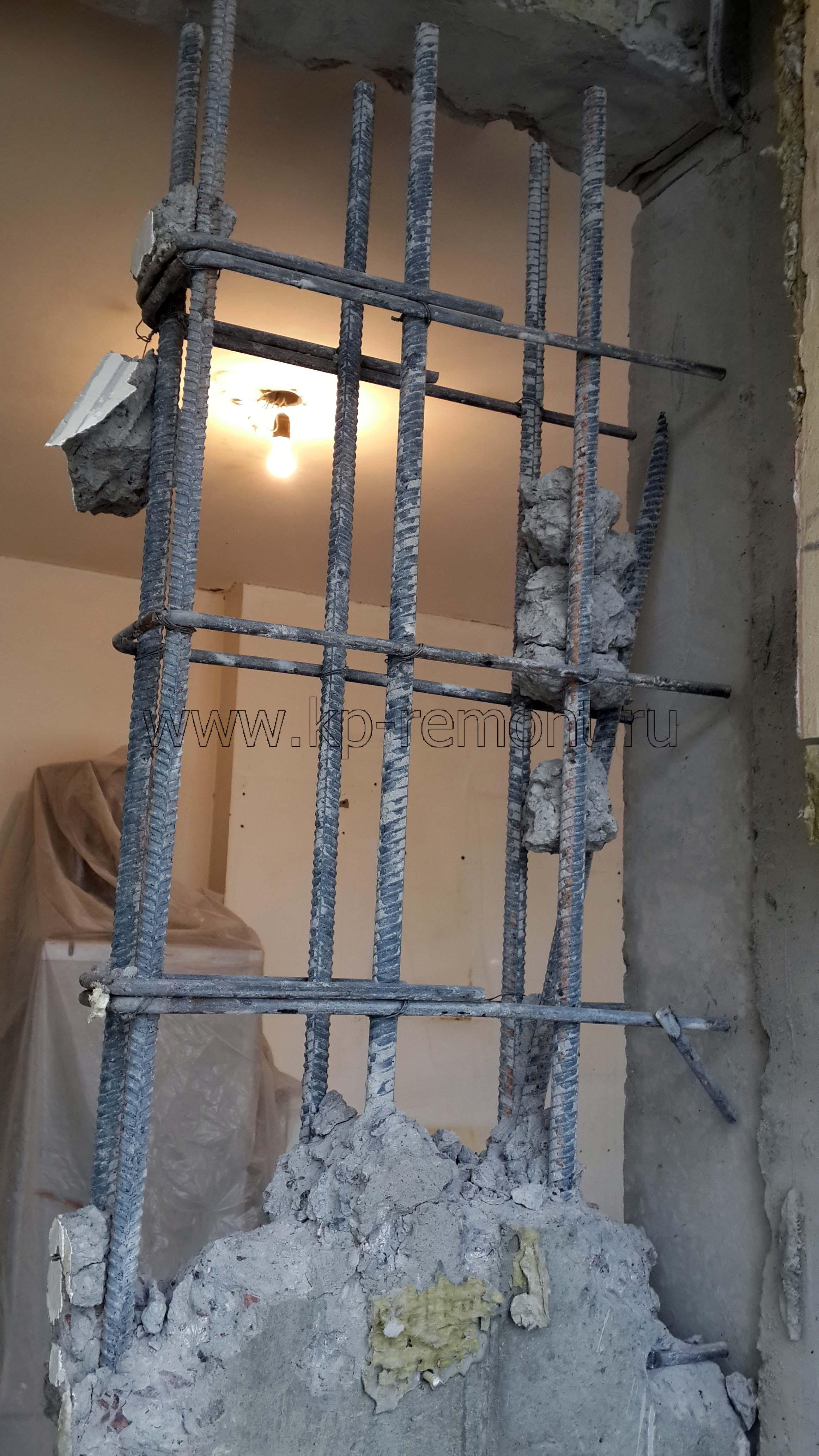 Расширение дверного проема в панельном доме